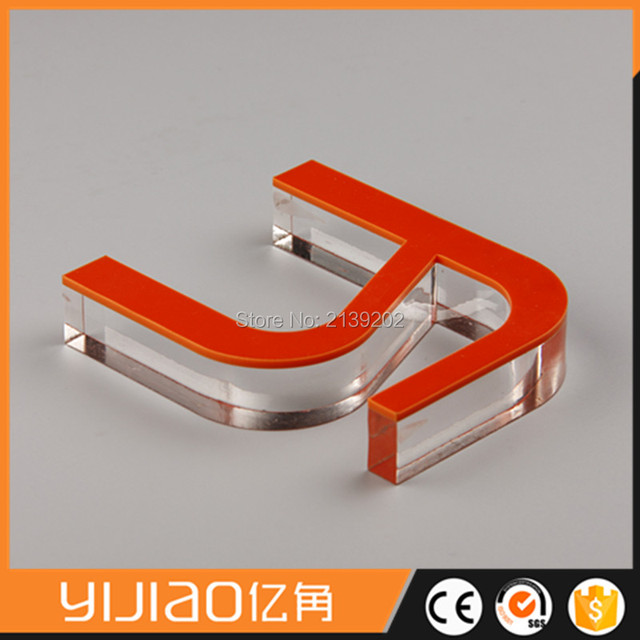 2 layer laser cutting clear acrylic 3d letter small metal letters for crafts
