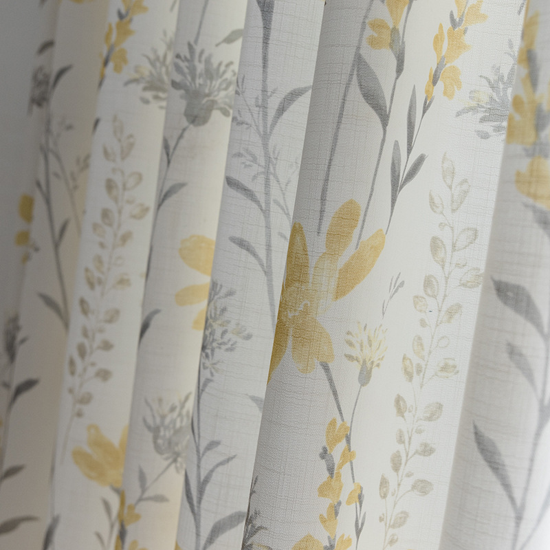 New Fresh Pastoral Padded Cotton And Linen Printing Curtains For Living Dining Room Bedroom.
