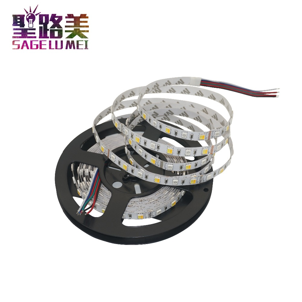 5m/roll DC12V 5050 RGB CCT LED Strip Light RGBW 5050 SMD Led Tape Non waterproof Led Stripe Bar Light String Holiday Decoration 10pcs 5 pin led strip wire connector for 12mm 5050 rgbw rgby ip20 non waterproof led strip to wire connection terminals