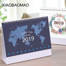 New Year 2019 Planner Cute Kawaii Desk Calendar Organizer Office School Supplies Accessories