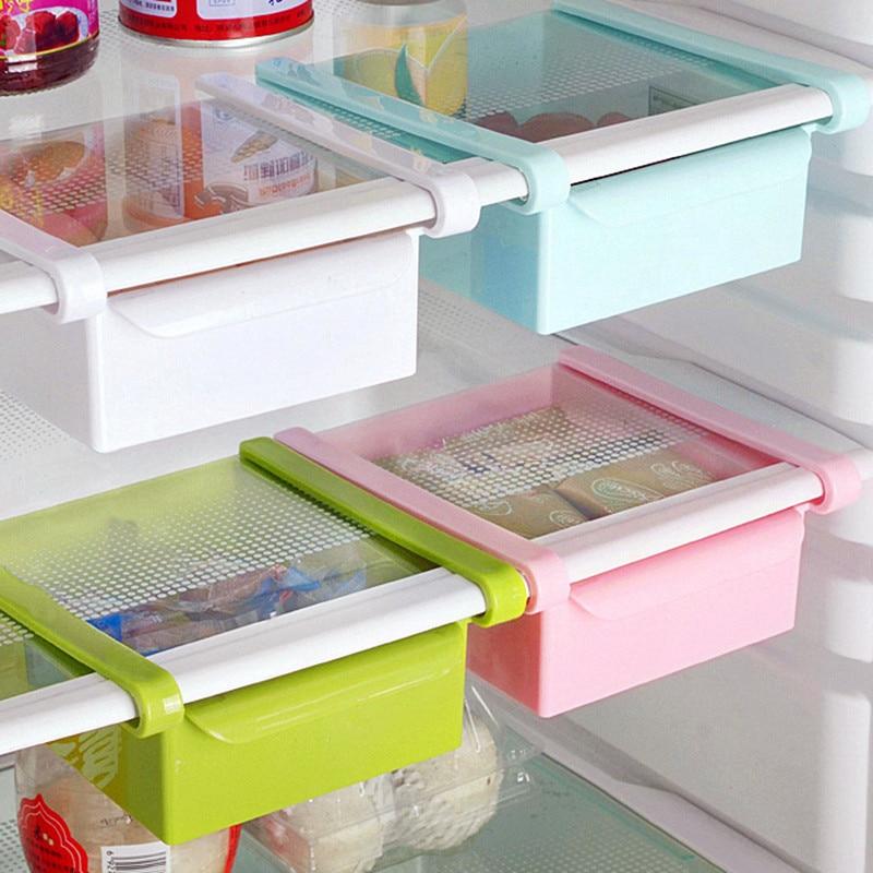 Kitchen Organizer Cherry Cart Urijk Fridge Storage Box Spacer Layer Rack Supplies Glove Shelf Drawer Space Saver