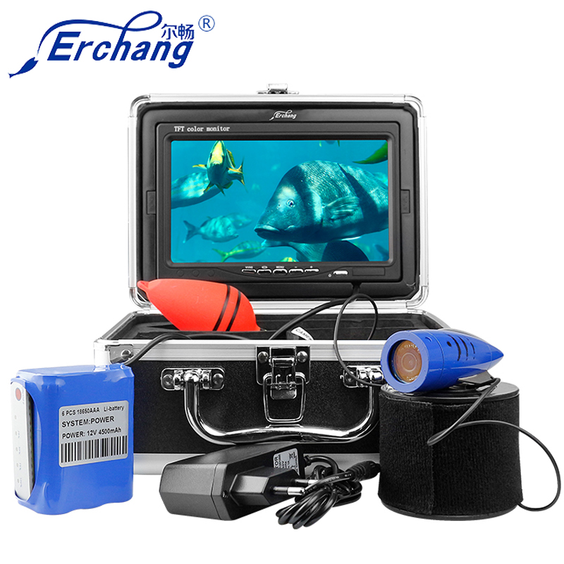 Erchang DV3524D 15m 1000TVL 7 Inches Monitor 12pcs Led Infrared Light Underwater fishing Camera For Ice