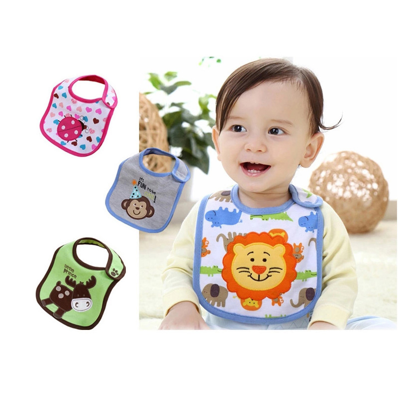 1pcs Baby Bibs Bandana 100% cotton High Quality Babadores burp saliva towel cartoon Boys Girls accessories clothing(China)