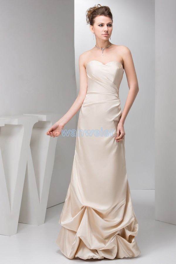 free shipping 2016 new design sweetheart pleat brides maid   dress   kim hot seller Custommade size/color champagne   Bridesmaid     Dress