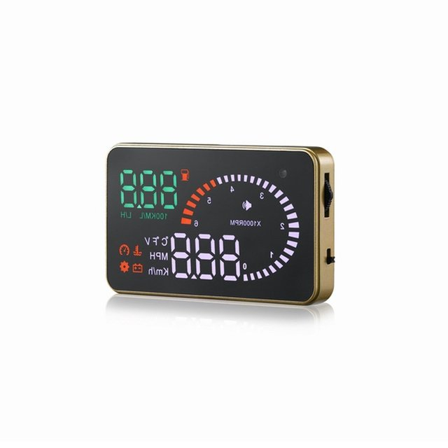 AUTO Universal Car HUD Head Up Display LCD Digital KM/h & MPH Velocidad de Rotación y el Consumo de Combustible Indicador de