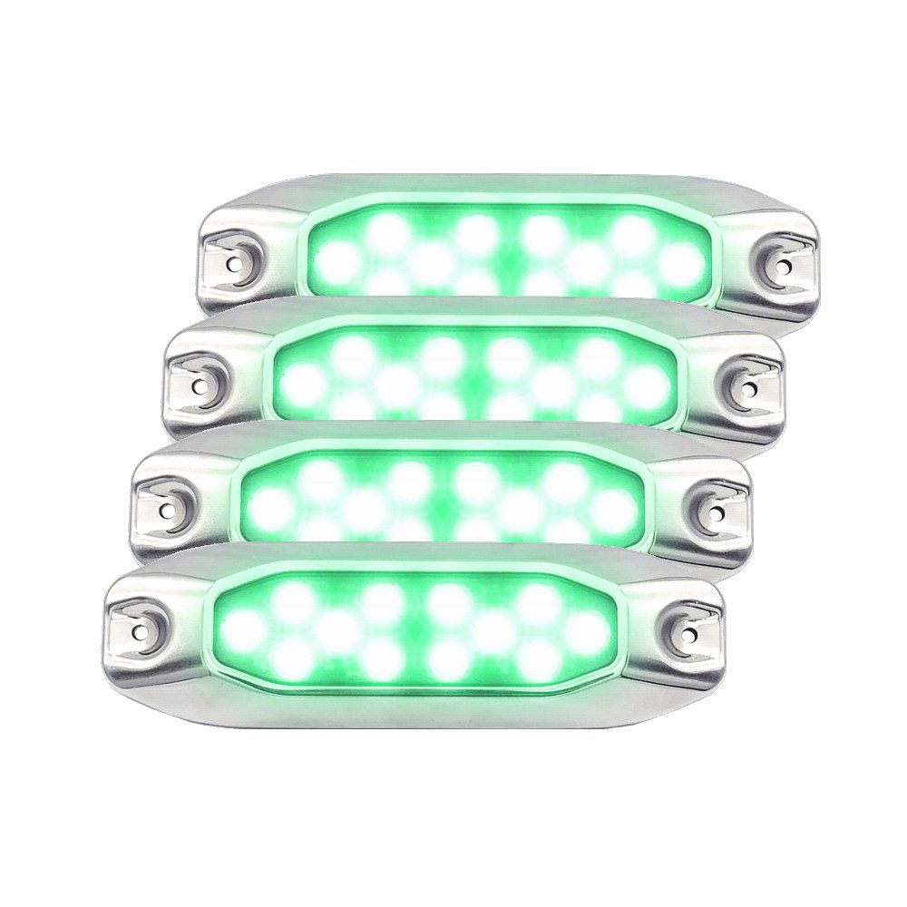 Apprehensive 4pcs Pack 10-30vdc Multi-voltage 7 Surface Mount Green Led Fishing Light Bait Attract Squid Lamp Lights & Lighting