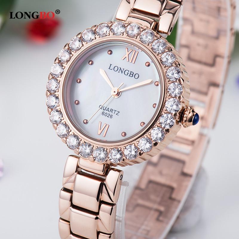 Women 39 s watch LONGBO luxury brand fashion Quartz Watch gold bracelet women 39 s wristwatch ladies Hodinky clock Reloj Mujer box in Women 39 s Watches from Watches