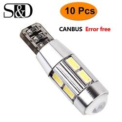 Éclairage d'intérieur pour voiture, sans erreur, T10 W5W ampoule LED CANBUS OBC lampe à LED, 501, 168, tableau de bord, ampoule LED, 12V