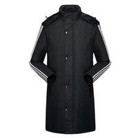 الرجال معطف الشتاء المعاطف القطن مبطن معطف دافئ سميك مبطن سترة مقنعين معطف طويل زائد الحجم واقية الذكور قميص طويل 4xl