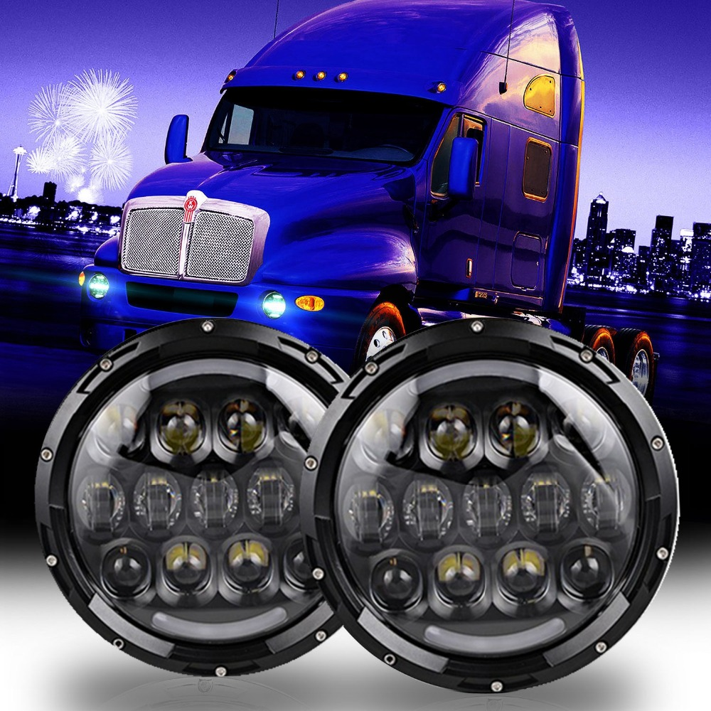 ФОТО LED Headlights For Kenworth T2000 T-2000 1998-2010 Tractor Trailer Truck Lamps