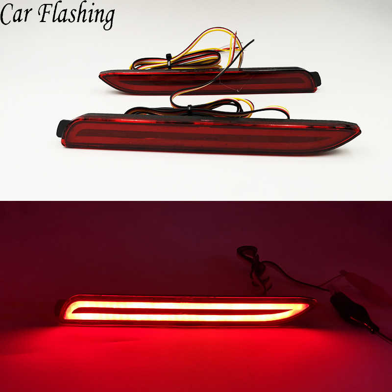 1 Pair Car LED Rear Bumper Reflector Brake Lights Red Lamp for Lexus IS-F GX470 RX300 for Toyota/Camry/Sienna/Venza/Reiz/Innova