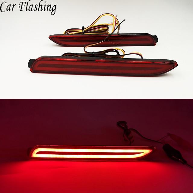 1 Pair Car LED Rear Bumper Reflector Brake Lights Red Lamp for Lexus IS-F GX470 RX300 for Toyota/Camry/Sienna/Venza/Reiz/Innova