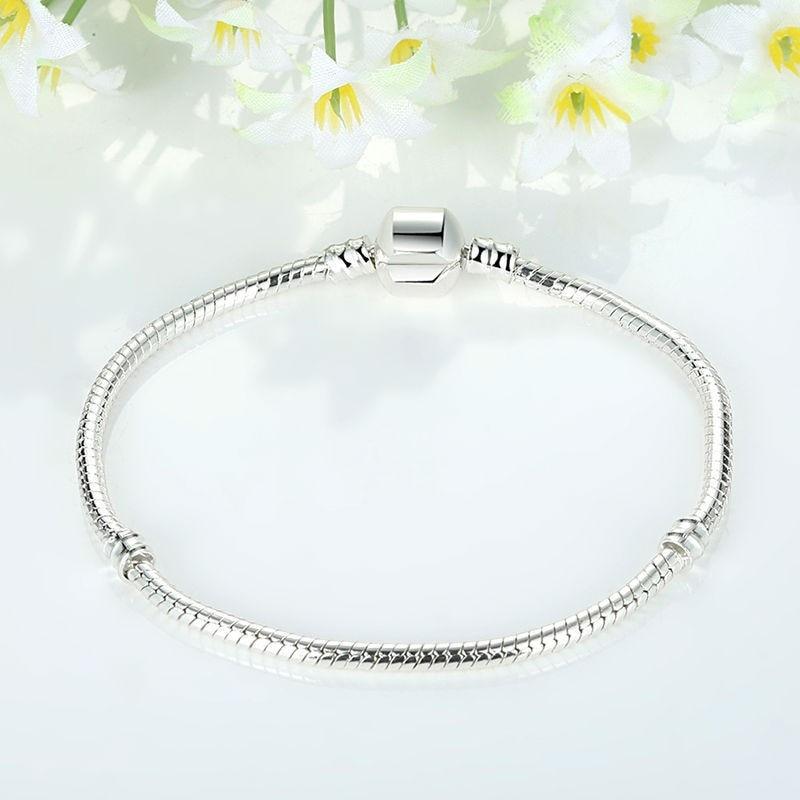 503e8e4ba2b88 Details about Hot Sterling Silver Pandora Barrel Clasp Bracelet