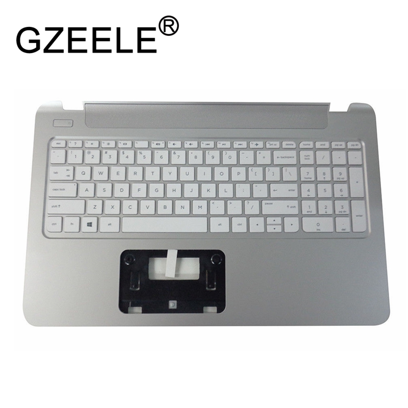GZEELE new for HP Pavilion 15-P series Palmrest Top Case Assembly upper cover keyboard bezel laptop 762530-001 WHITE