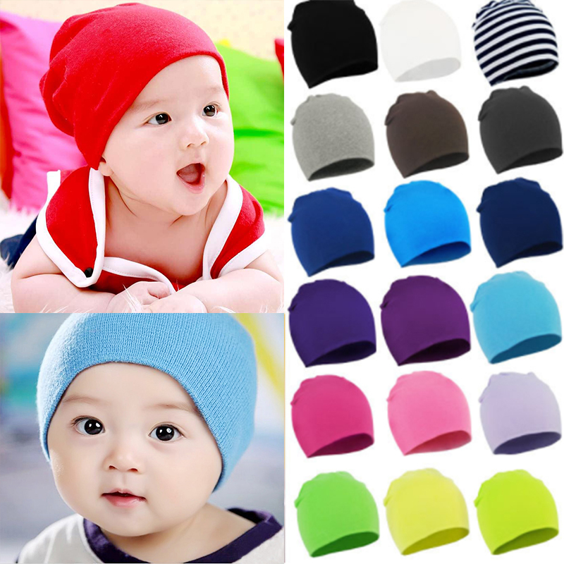 2018 Cotton Baby Hat cap girl Boy Toddler Infant Kids Caps Brand Candy Color Lovely Baby Beanies Accessories
