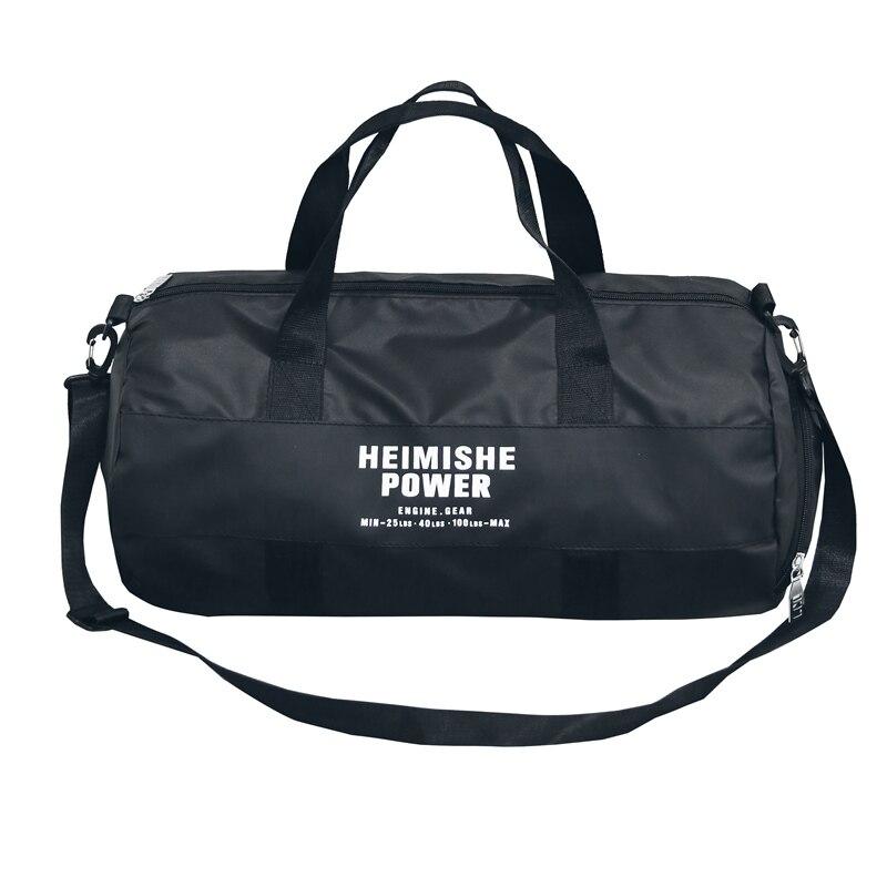 Нейлон Водонепроницаемый баррель независимых обуви положение Повседневное Сумки черный Чемодан выходные Для мужчин дорожные сумки T565