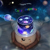 LED Night Light Star Sky Sky Magic Star Moon Planet Projector Cosmic Light Baby Kindergarten Lights Birthday Gift