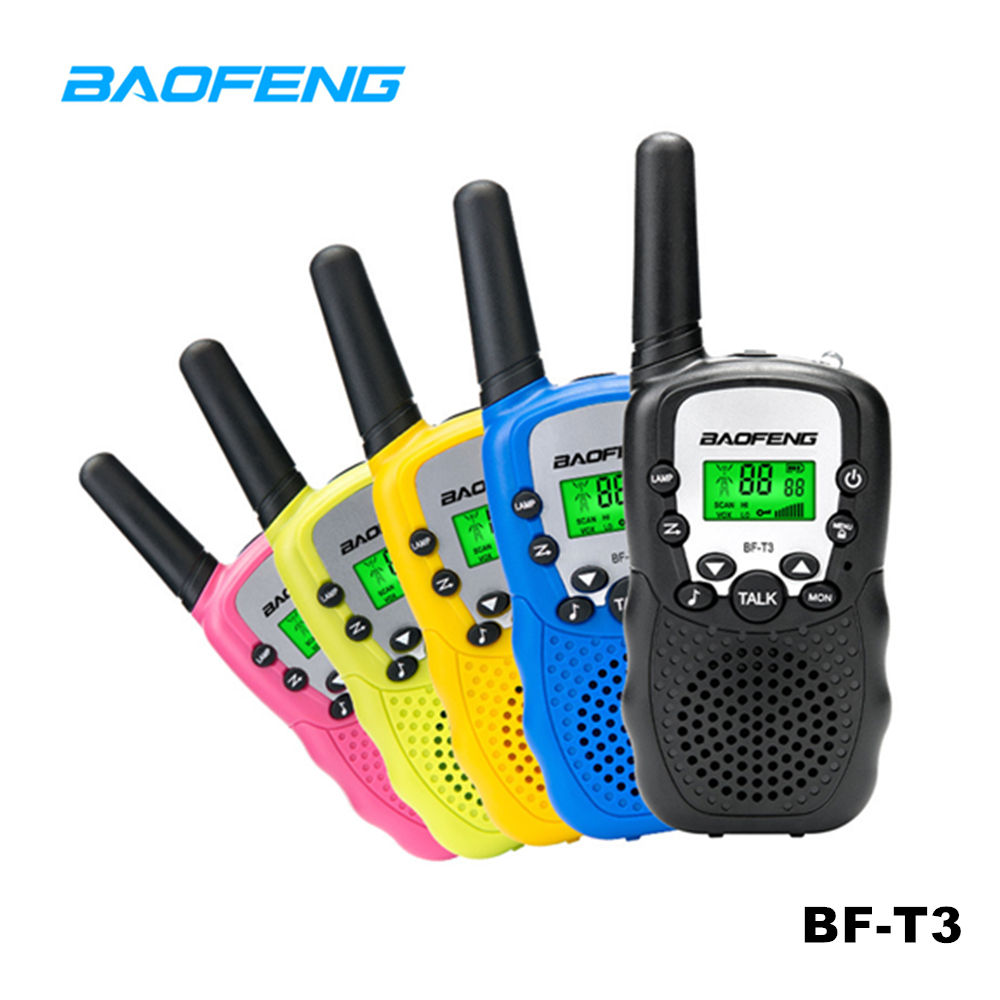 2pcs Baofeng MINI Walkie Talkie <font><b>BF</b></font>-T3 Kids Toy Portable Two Way Radio Comunicador <font><b>BF</b></font> T3 Handheld HF Transceiver for <font><b>Children</b></font> image