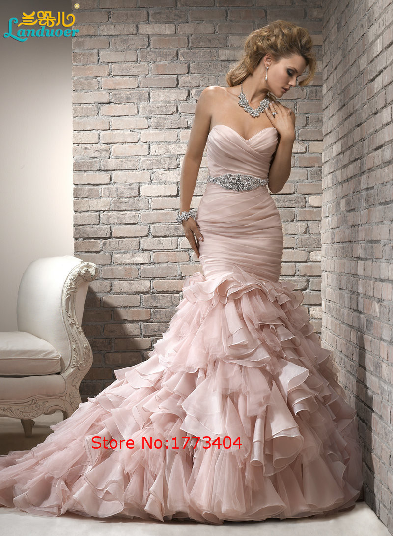 Popular Pink Mermaid Wedding Dresses-Buy Cheap Pink Mermaid ...