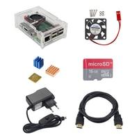 Raspberry Pi 3 Starter Kit Acryllic Case 16 G SD TF Card CPU Cooling Fan Copper