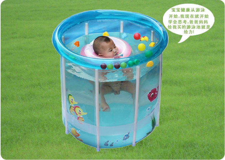 New Style Stent Baby Swimming Pool Thicken Large Transparent Cold-proof Folding Baby Infant Inflated Bath Tub inflatable baby swimming pool tub infant thicken security inflating bathtub bathing shower pad folding children washbowl d3
