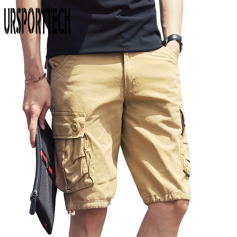 2018 Cotton Shorts Man Summer Brand Fashion Mens Casual Camouflage Short Pants Men Homme Loose Cargo Shorts