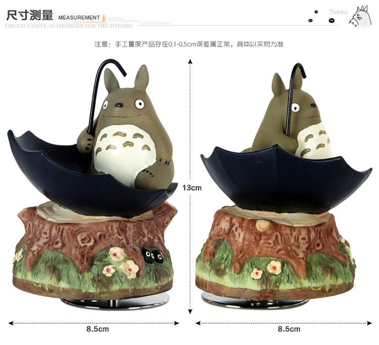 Hayao Miyazaki Totoro rotating sitting umbrella music box in Music Boxes from Home Garden