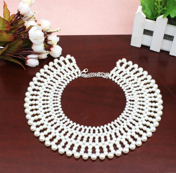 2017 New Exclusive High quality Fashion noble imitation-beads pearl collar necklacke collar Statement wholesale collar latest ...