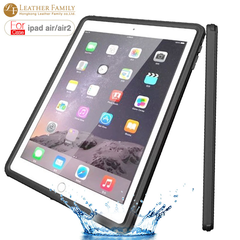 Universal waterproof case For ipad air 1 2 original life water shock proof ip54 silicone Case for iPad air 2 9.7inch shell bag