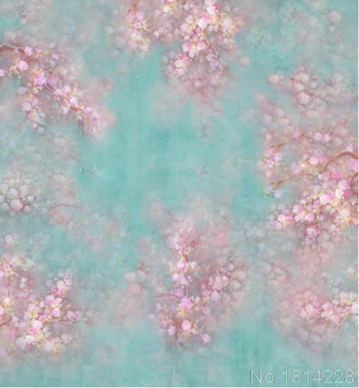 3x5ft Rosa Blumen Blumen Zweig Turkis Wand Neugeborenen Kinder