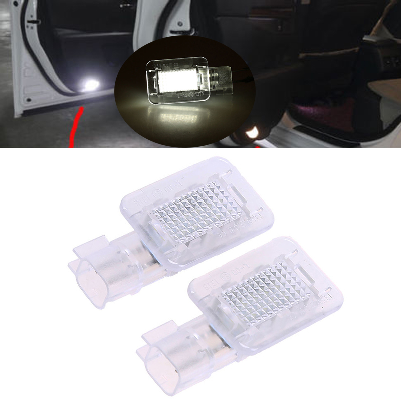 POSSBAY White 18 LED Car Interior Footwell Boot Door Courtesy Light Lamp For Volvo C30 V70 XC70 XC90 Licence Plate Lights
