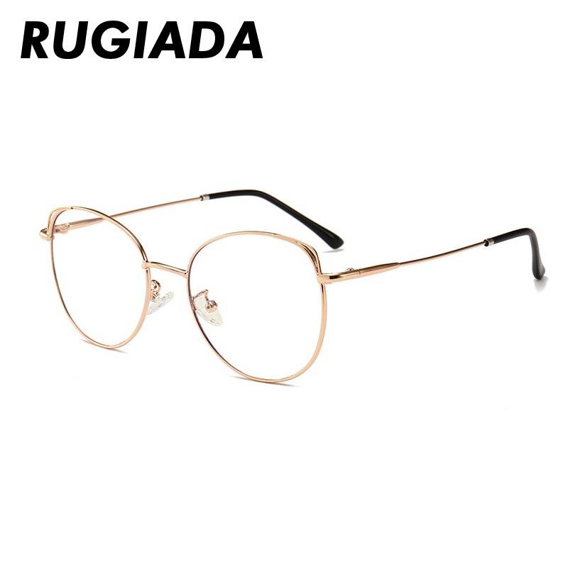 RUGIADA Round Women Eyeglasses Frame Men blue Light Glasses Frame Metal Vintage Classic Clear Lens Prescription Glasses RA1006 in Men 39 s Eyewear Frames from Apparel Accessories