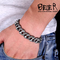 High Quality Man's Heavy Metal Biker Chain Bracelet For Men 316L Stainless Steel Jewelry BC4102