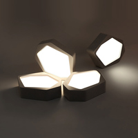 Biblioteca 1 Unids Celular de La Novedad Led Luz moderna Iluminación Comercial para la Oficina Sala de Estudio Negro Superficie Blanca Led Lámpara de Techo Avize