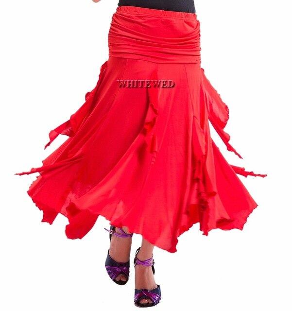 finest selection 2636b 3cbbe US $26.99 |Foxtrot Latina Flamenco Americano Da Ballo Liscio Gonne Da Ballo  Costumi Lungo Increspato Moderna Latino Sala Da Ballo Standard Da Ballo ...