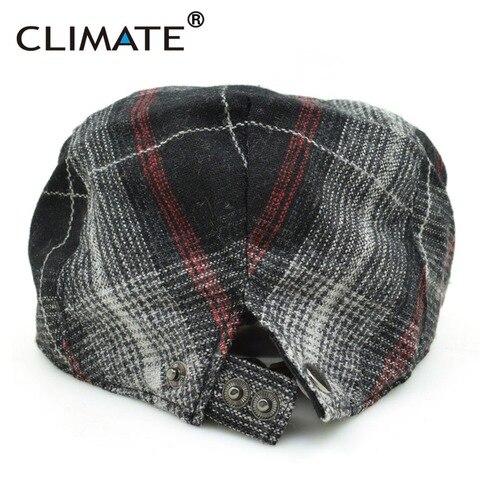 CLIMATE Winter Men Berets Cap Men Thicken Plaid Flat Cap Woolen Grid Warm Newsboy Tweed Gatby Painter Style Adult Men Cap Hat Islamabad
