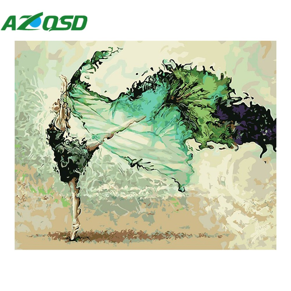 AZQSD Oil Painting By Numbers Abstract Dancer Figure Painting Portrait Hand Painted For Home Decor DIY 40x50cm szyh6228