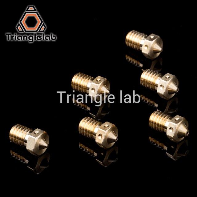 trianglelab Top quality V6 Nozzle for 3D printers hotend 4pcs/lot 3D printer nozzle for E3D hotend titan extruder prusa i3 mk3 3