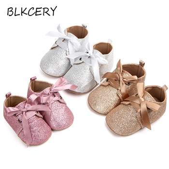 Newborn Baby First Walker Infant Crib Shoes for Girls Anti-slip Soft Sole Prewalker Toddler Moccasins New Born Footwear Slippers fashion newborn unisex shallow soft sole babies shoes cotton solid toddler moccasins infant crib outdoor boys girls first walker