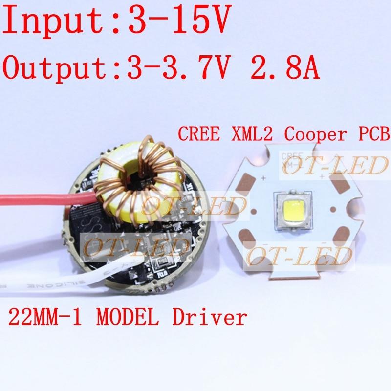 CREE XML2 LED XM-L2 T6 U2 10W WHITE Neutral White Warm White LED Emitter chip 20MM Copper PCB+Input 12V LED driver sitemap 12 xml