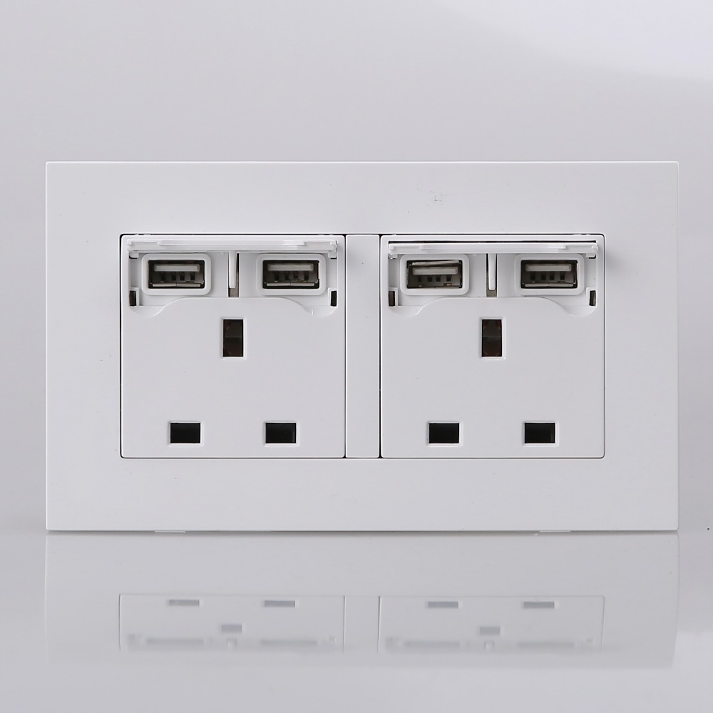 UK Standard 250V wall switch add Phone charging socket,2100mA ... for Wall Switches And Sockets  1lp1fsj