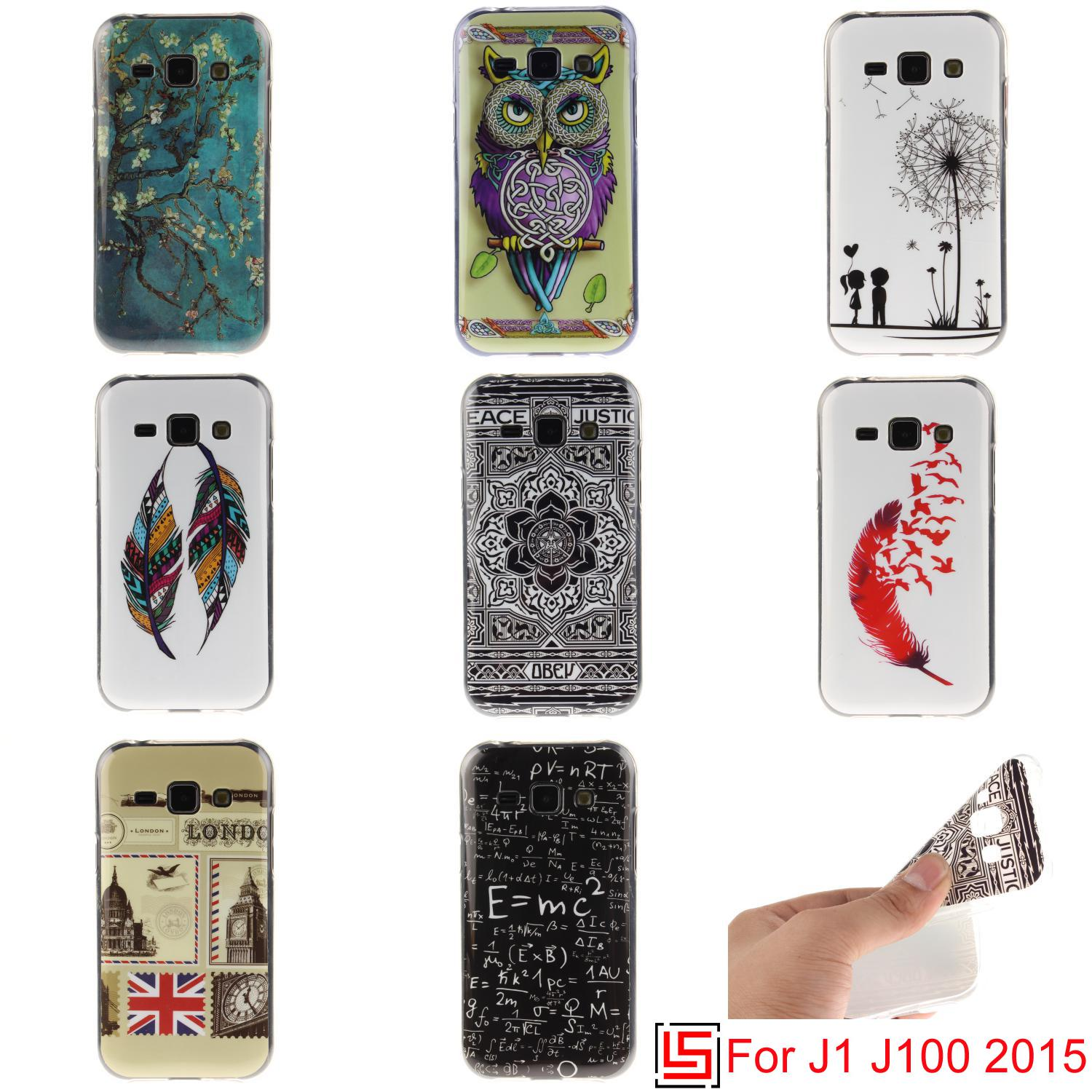 Best Ultra Thin TPU Silicone Soft Phone Cell Mobile Case etui fundas Cover Cove For Samsung Galaxy Galaxi J1 2015 J 1 J100 Tree