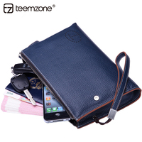 Teemzone Men S Leisure Euramerican Style Genuine Soft Leather Casual Vintage Wrist Day Clutch Handbag Clutch