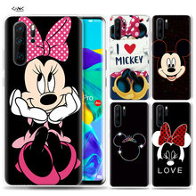 Case for Huawei P30 P20 P10 P9 Mate 10 20 Lite Pro Mobile Cell Phone Bag P Smart Z 2019 Plus Kissing Lovers Mickey Minnie Mouse(China)