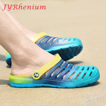 JYRhenium New Design 2018 Summer Men Mesh Breathable Flat Sandals Men Running Shoes Beach Flip Flops