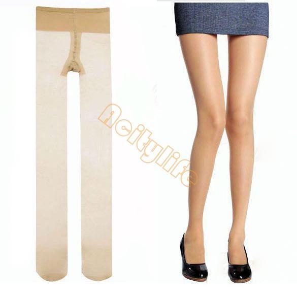 5 par/lote venta Caliente Del Envío Libre ultrafino medias sin costura invisible inconsútil del pantyhose de seda invisible 34