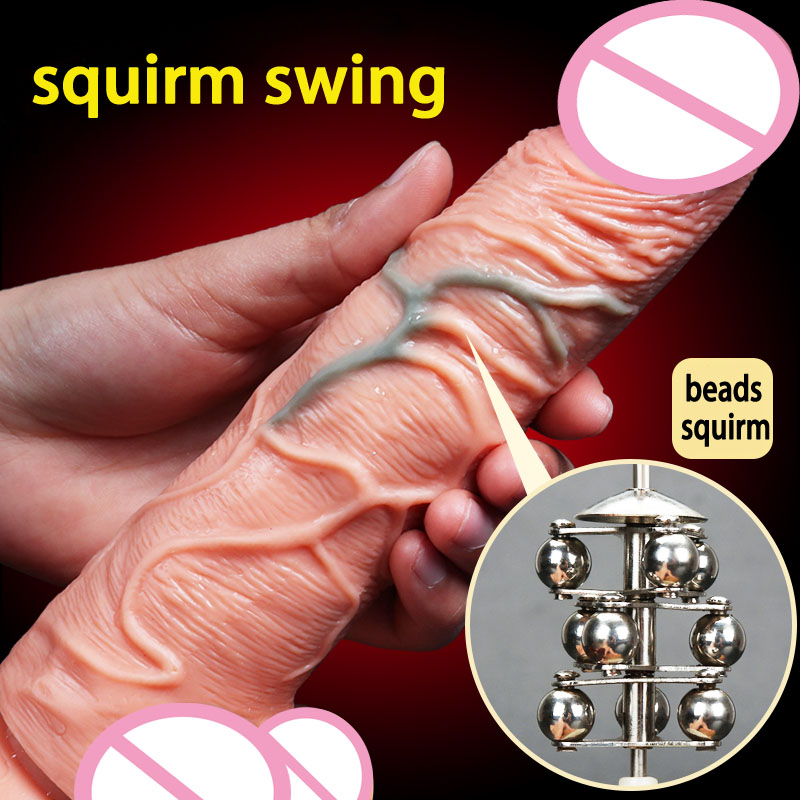 Squirm Swing vibrating super realistic suction cup dildo vibrator artificial penis dick sex toys for woman large dildos 10 frequency vibrating penis artificial large realistic dildo vibrator sextoys flesh brown big dick suction cup dildos for women