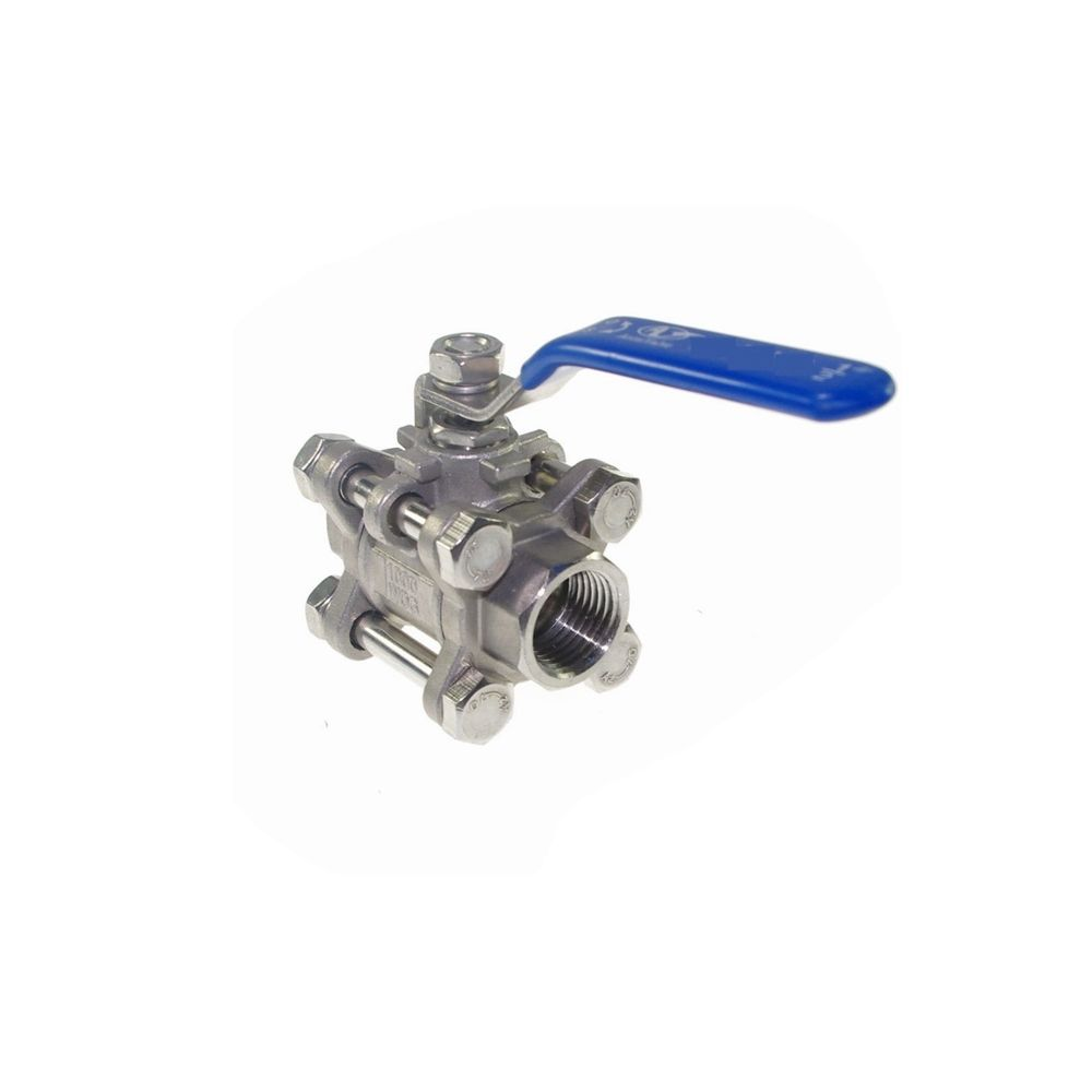 1pc DN32 Female 3-Piece Full Ports 304 Stainless Steel Ball Valve ac220v g1 1 4 dn32 stainless steel 304 three piece motorized ball valve actuator 25nm with instruction