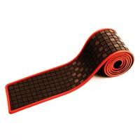 Rubber Car Rear Bumper Protector Trunk Sill Plate Carbon Fiber Lattice Guard Pad Trim For VW