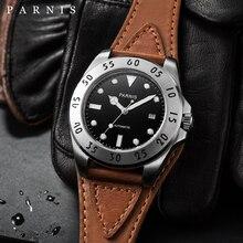 PARNIS 43mm Automatic Mechanical Watch Men reloj hombre automatico Auto Date Luminous 100M Male Clock Men Mechanical Wristwatch